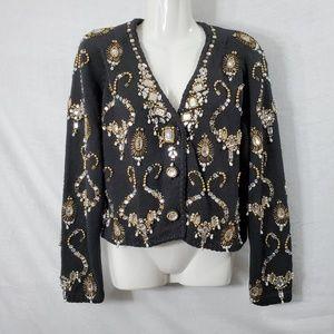 Michael Simon Vintage Beaded Cardigan